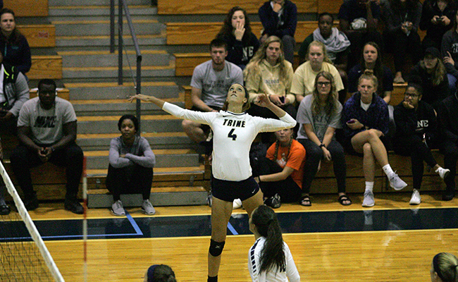Volleyball Claims Straight-Set Win Against Saint Mary's