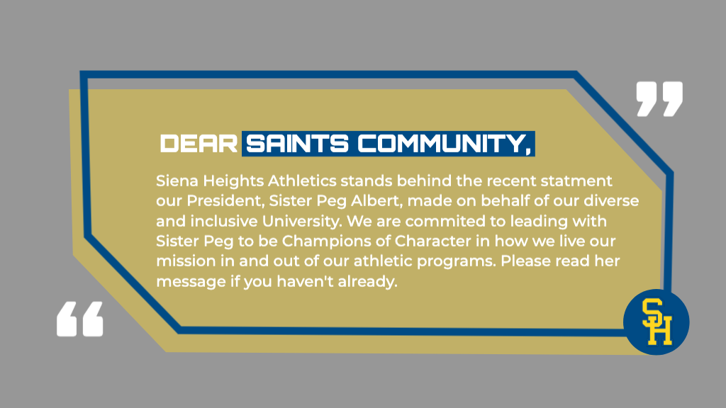 Saints Athletics Shows Support During Difficult Times