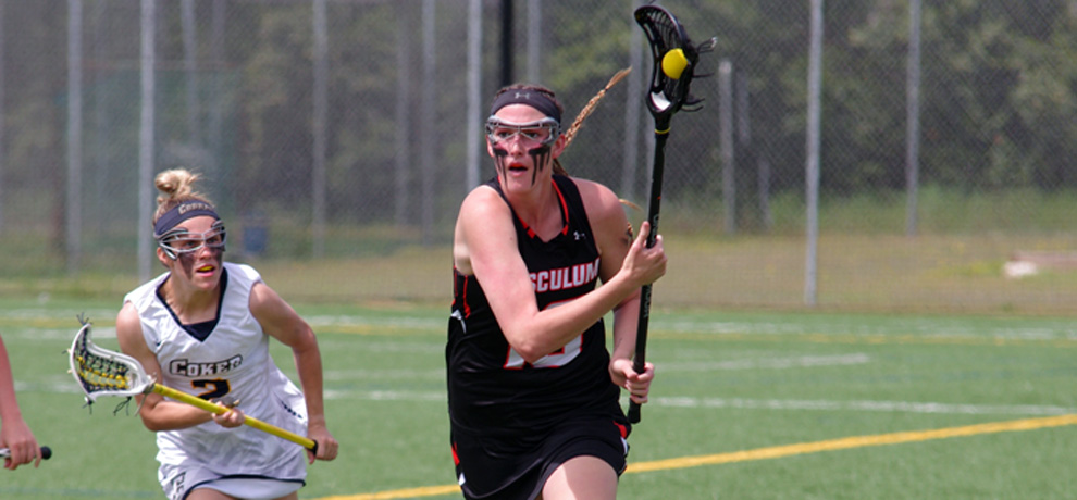 Juliette Cusano set the Tusculum single-season goal record and reached 100 career goals at Coker (photo by Megann McKinney)