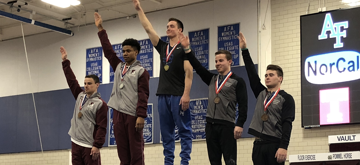 Men's Gymnastics Takes Fourth at USAG Collegiate Championships