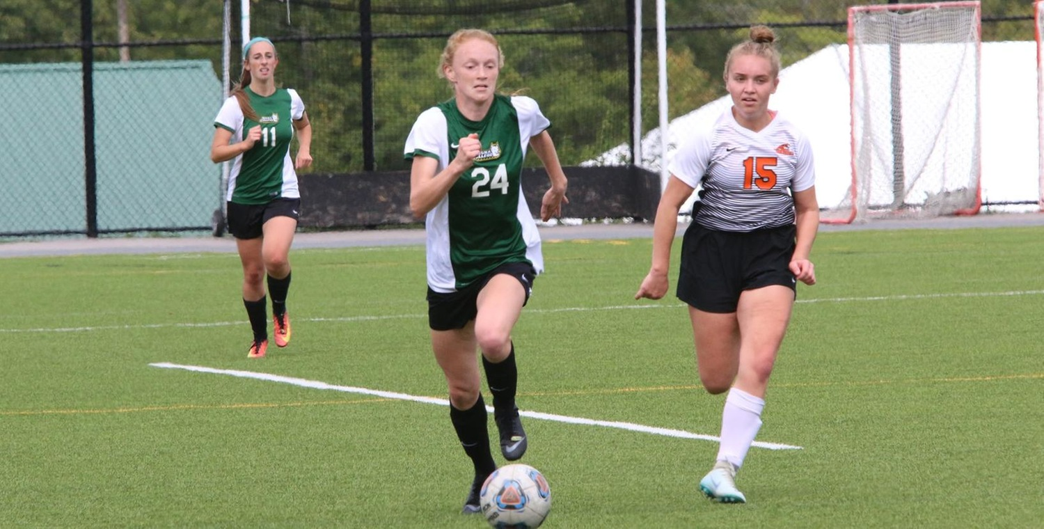 Julia Oglesby (24) scored a pair of goals for Keuka College on Saturday