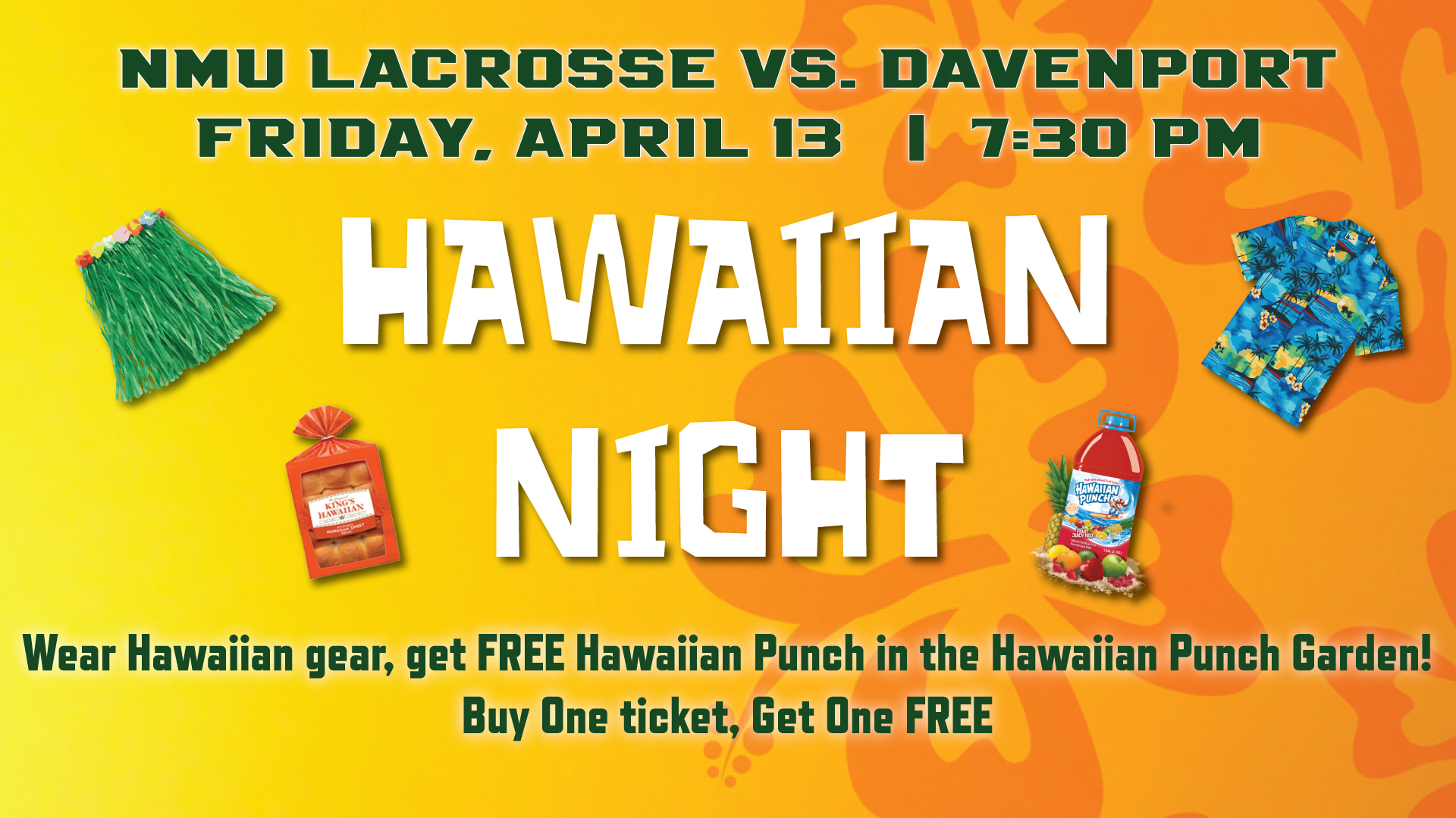 Lacrosse Hosts Davenport Friday for Hawaiian Night