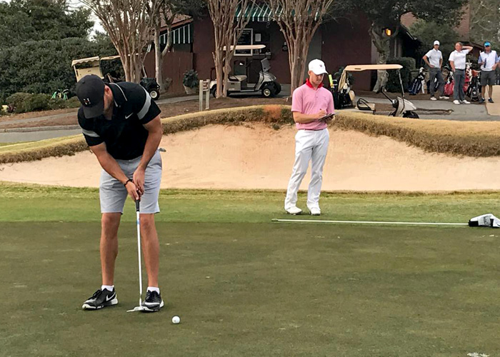 Senior Addison Lambeth shot a 1-over-par 73 on Monday in the opening round of the Callaway Gardens Invitational and is tied for seventh. (Photo submitted)
