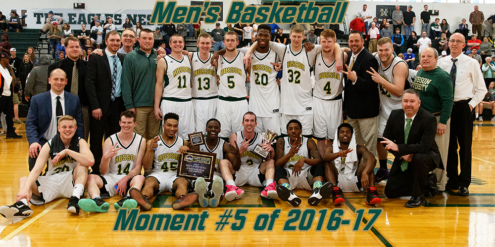 Top 10 Moments of 2016-17: #5 Men's Basketball Captures 6th NAC Title in Program History