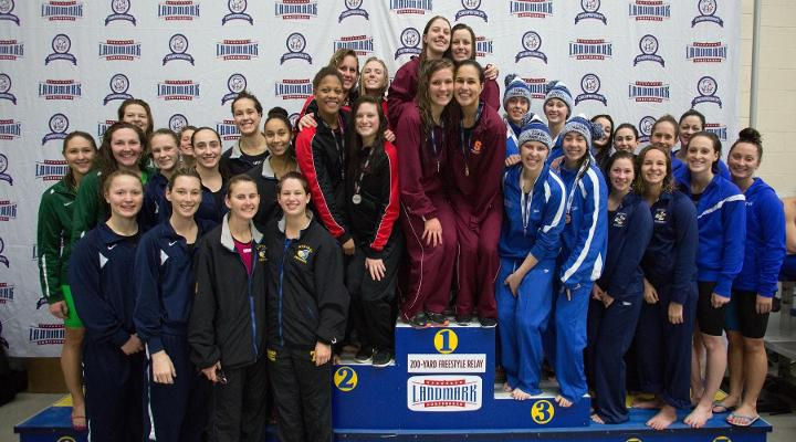 Women's Swimming Earns 78 Points in Day One of Landmarks