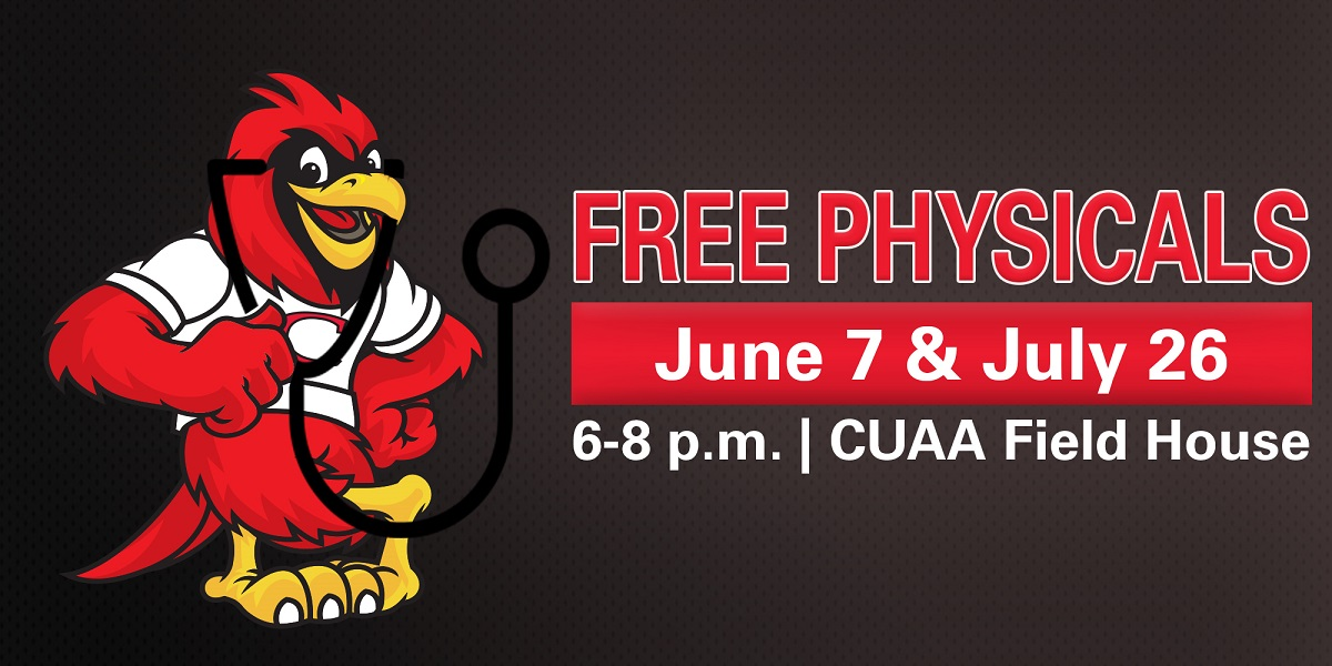 Photo for Free sports physicals for all CUAA athletes (June 7th AND July 26th)