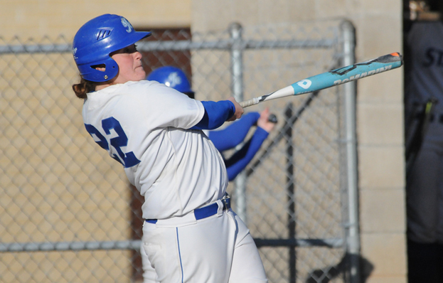 Softball Splits with Emerson in 2012 Home-Opener