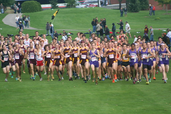 Women's Cross Country finished eighth and Men end up 14th in the 2012 Knight Invitational