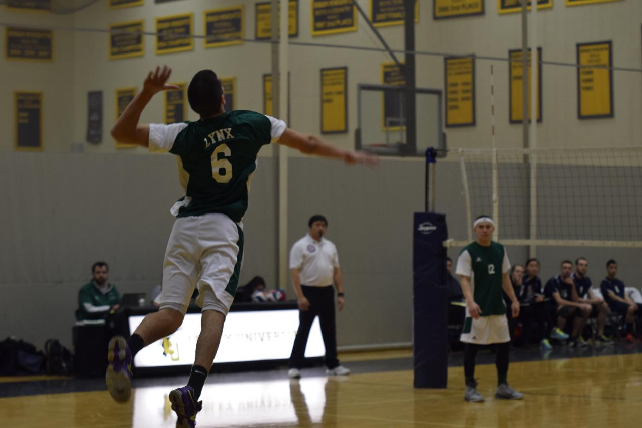 Eagles Soar Past Men's Volleyball