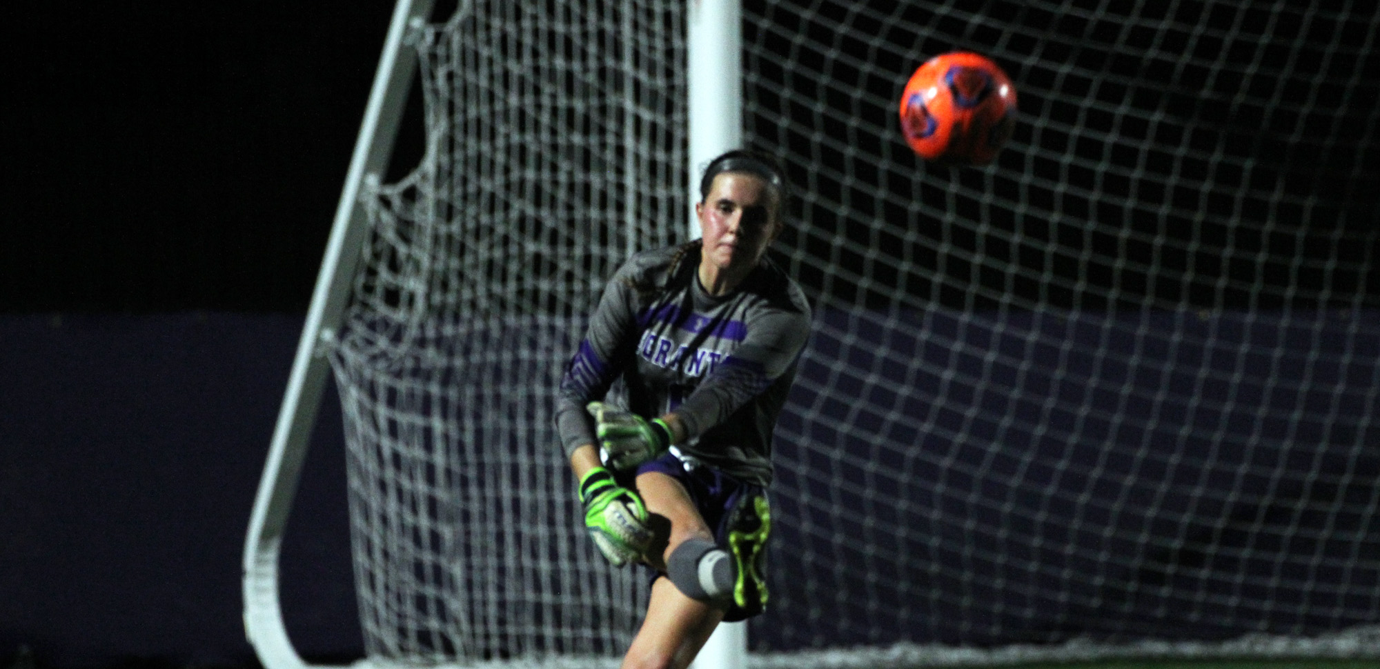 Senior goalkeeper Colleen Berry made a season-high 10 saves against 11th-ranked Christopher Newport on Sunday night.