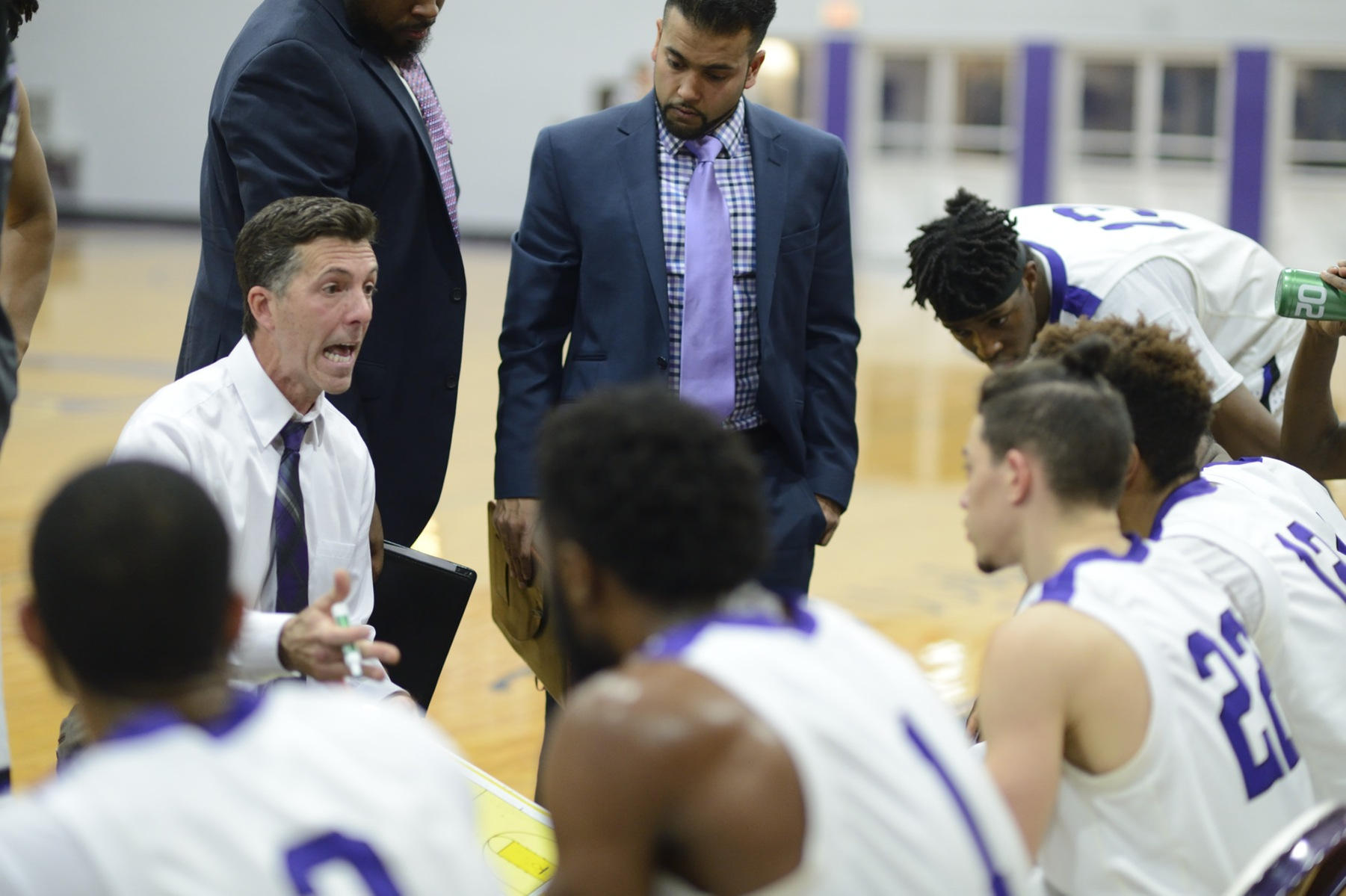 All Five Starters And A Total of Six Purple Knights Reach Double Figures As Men's Hoops Wins At Mercy