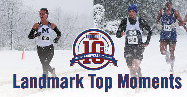 Moravian Cross Country Teams Sweep Landmark Top Moment for 2011 Titles in Snowstorm