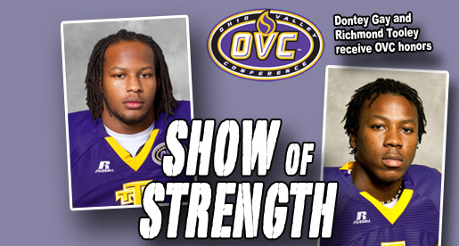 Golden Eagles Gay, Tooley receive weekly honors from OVC