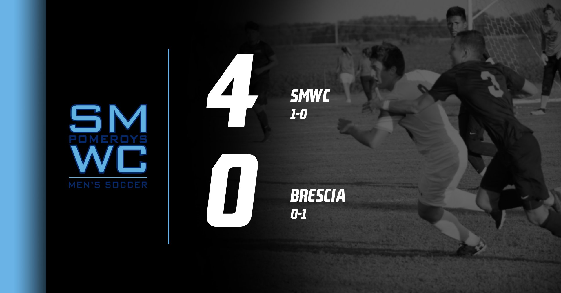 Men's Soccer Makes A Statement with 4-0 Pounding of Brescia