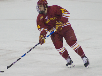 Zach Redmond will serve as Ferris State Hockey's team captain for the upcoming 2010-11 season.  (Photo by Joe Gorby)