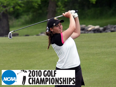Ashley Swanson fired a second-round 79 score and is tied with teammate Erin Fuchik for 19th place.  (Photo courtesy of Drury Sports Information)