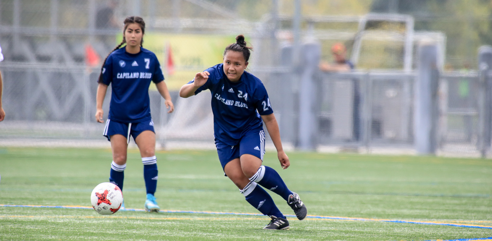 Claire Ye (left) and Adrianna Babinski. Photo Paul Yates, Vancouver Sports Pictures
