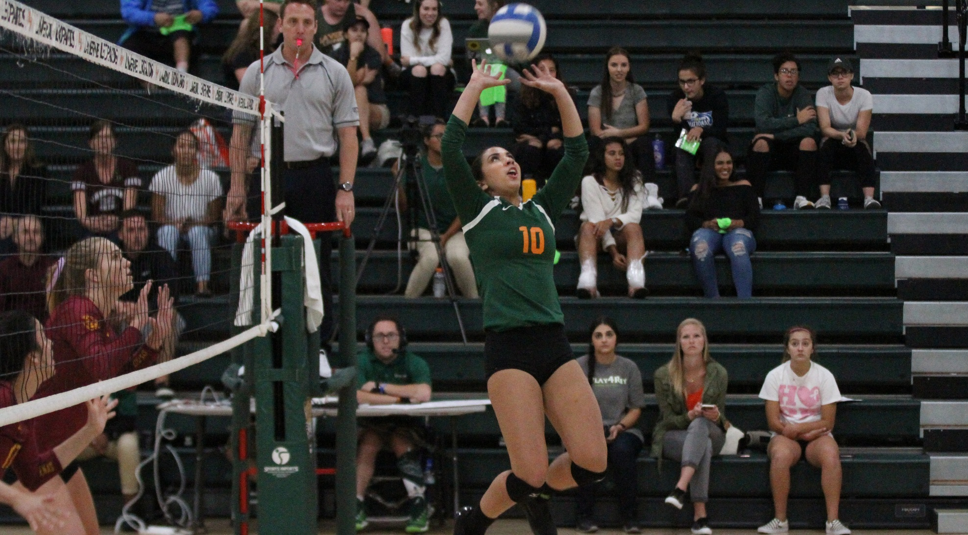 No. 24 Leopards fall to No. 8 CMS in five sets