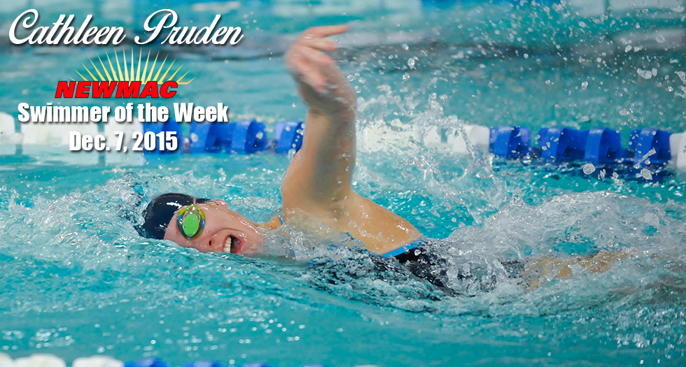 Pruden Named NEWMAC Swimmer of the Week