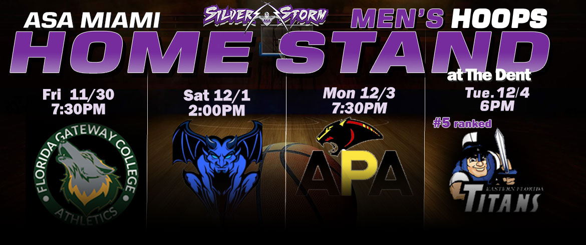 ASA Miami Men's Hoops Preparing For 4-Game Home Stand