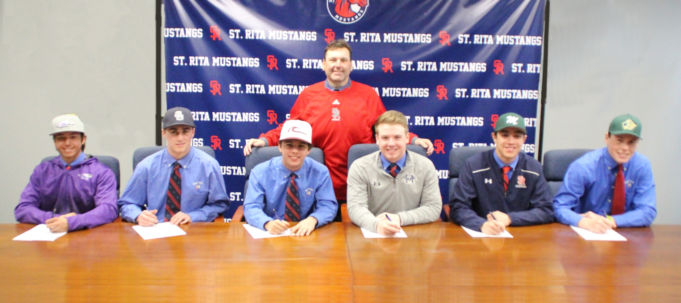 6 SENIOR BASEBALL PLAYERS SIGN LETTERS OF INTENT