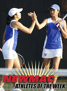Watanabe/Lee Named NEWMAC Doubles Team of the Week