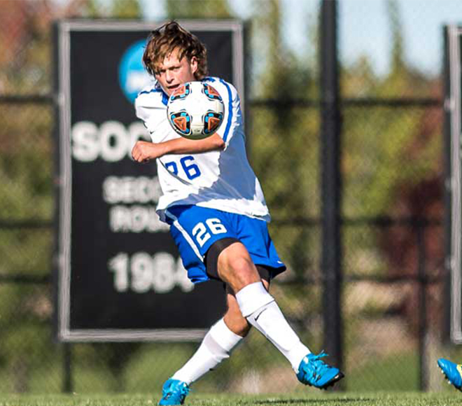Hoff and Trabold picked as this week's SUNYAC Men's Soccer Athletes of the Week