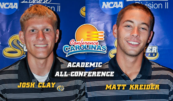Clay, Kreider Named Academic All-Conference