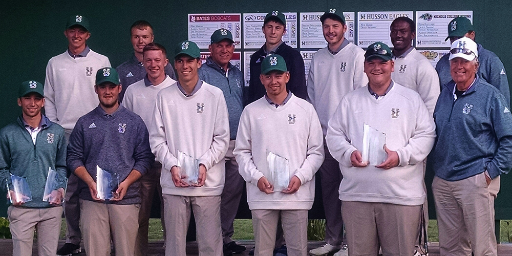 Men's Golf Wins the 2016 Husson Invitational
