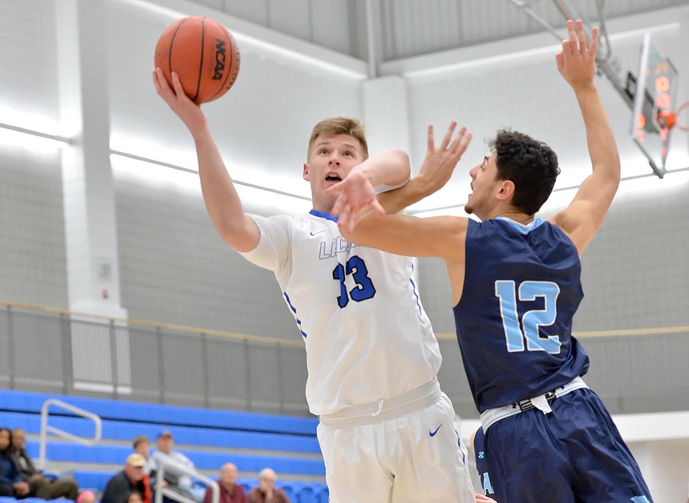 Men's Basketball Earns First Home Victory against Framingham State, 63-49