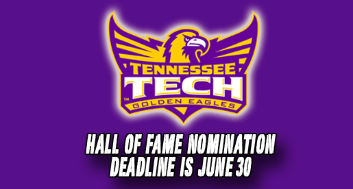 Nominations sought through June 30 for 2013 Tech Sports Hall of Fame