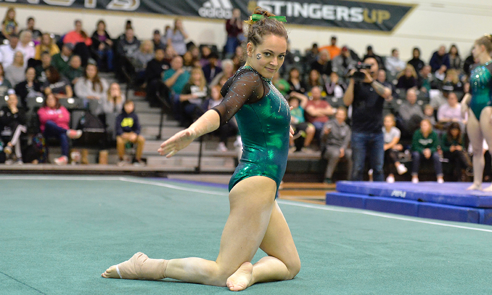 JUAREZ SETS CAREER HIGH IN ALL-AROUND AS GYMNASTICS SPLITS AT SEAWOLF INVITATIONAL