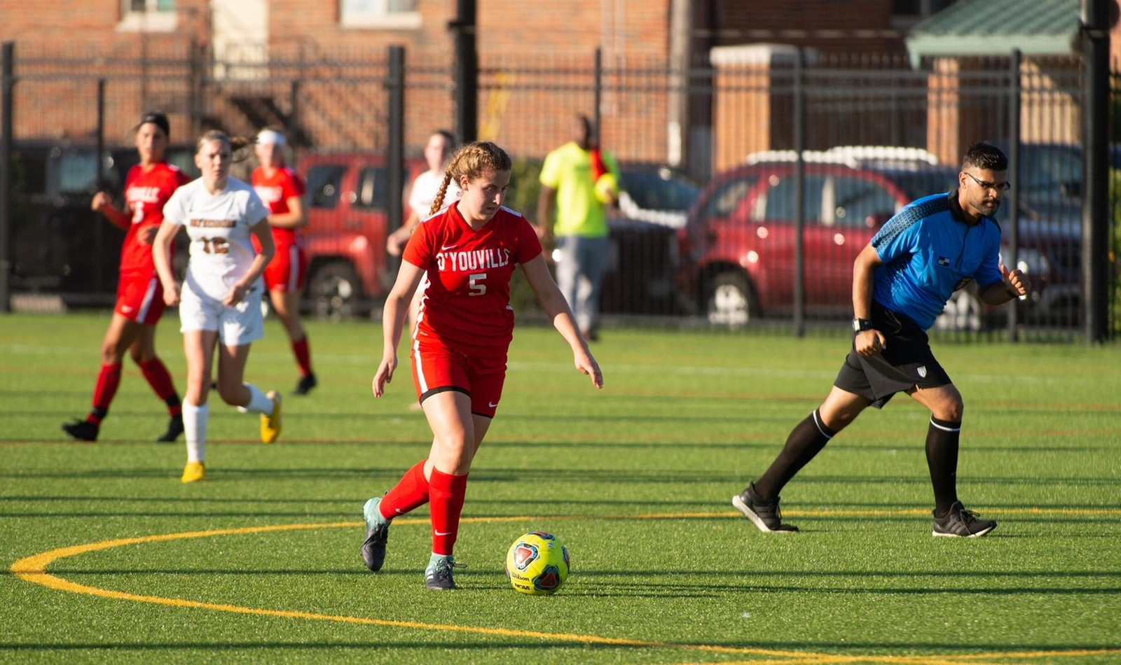 Isabella Lucania (above) scored her first career goal against the Bengals on Tuesday