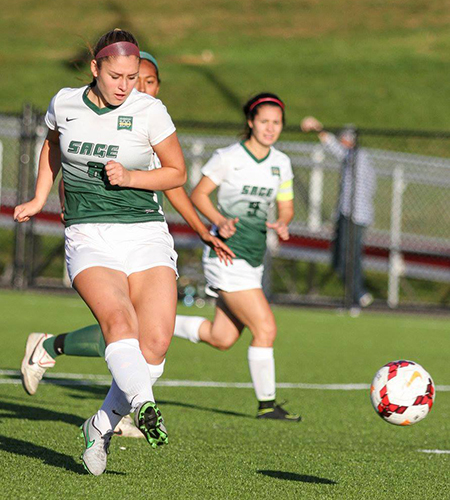 Sage Women's Soccer Team among NCAA National Stats Leaders for 2016