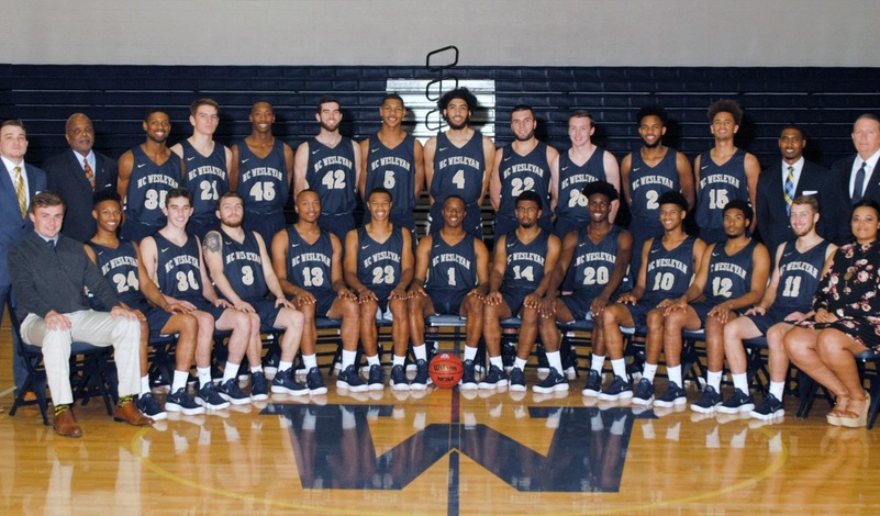 2017-18 N.C. Wesleyan Men's Basketball Team