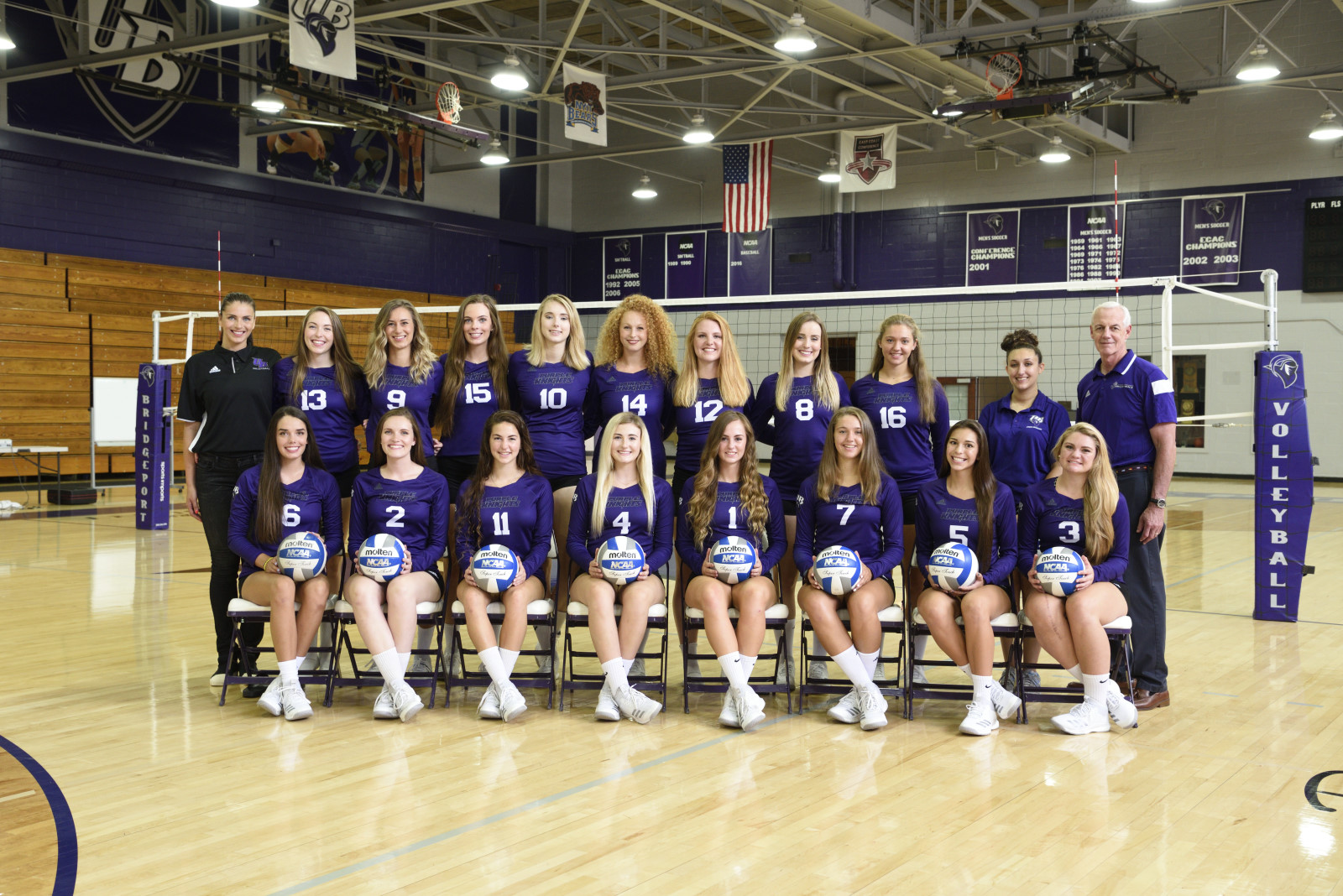 Purple Knights Even Women's Volleyball Season Mark At 3-3 With Four-Set Home Win Over St. Anselm