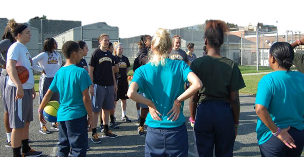 Women's Basketball Volunteers at Department of Juvenile Services