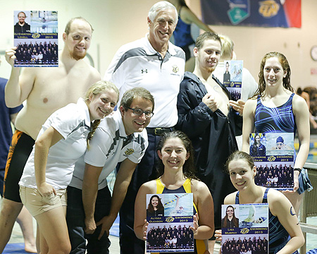 Bison men earn first wins of the season with sweep on Senior Day, women earn split