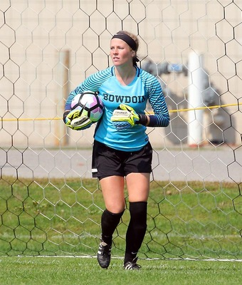 Rachel Stout made six stops for Bowdoin, keeping the Polar Bears in the hunt until the end.