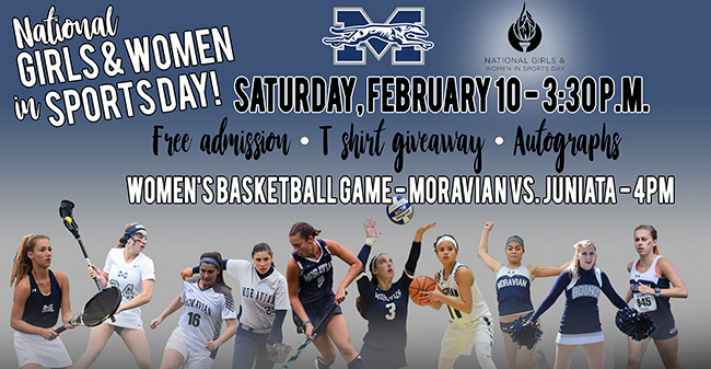 Moravian to host National Girls and WOmen in Sport Day on February 10.