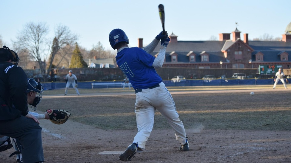 Dylan Ketch at bat in the late innings. (Photo by Olivia St. Jean)
