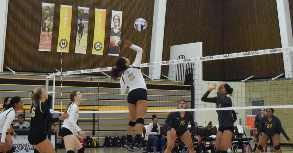 Mariners Volleyball Outplays Mendocino In 3-0 Sweep