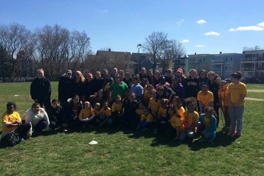 Women's Soccer Volunteers with Strong Women, Strong Girls