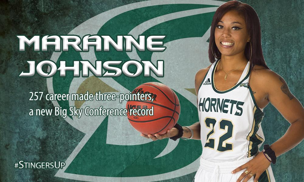 JOHNSON BREAKS BIG SKY RECORD, BECOMES TOP 3-POINT SCORER IN CONFERENCE HISTORY