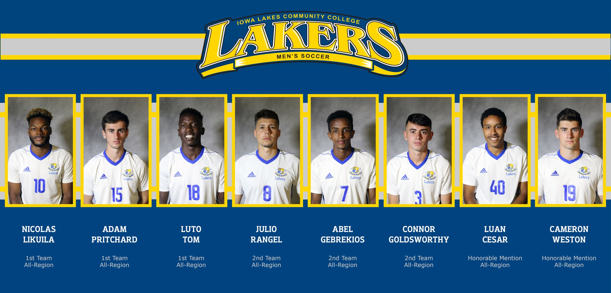 Lakers Place 8 on All-Region Team