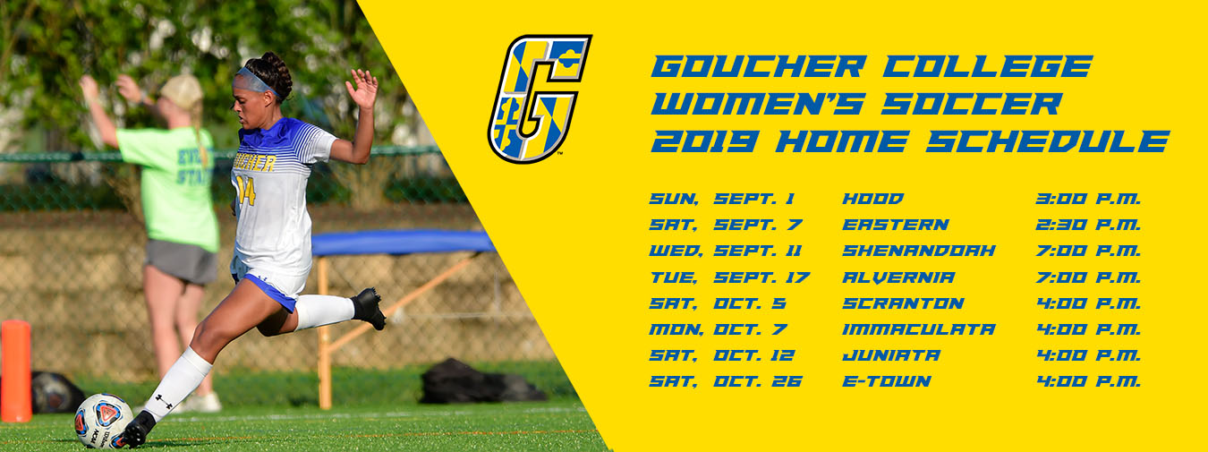 Goucher Women's Soccer Announces 2019 Slate