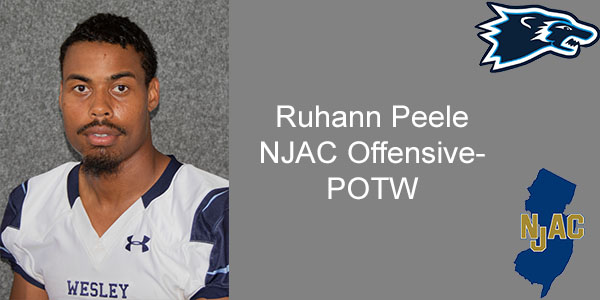 Peele Earns his Second NJAC Player of the Week for the 2019 Season