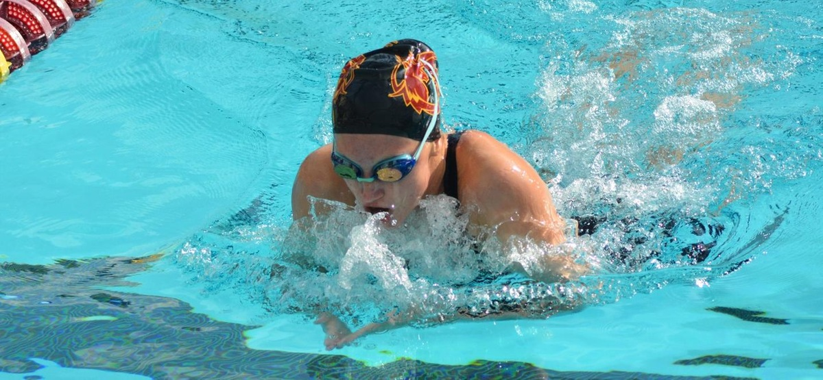 CMS Women's Swimming and Diving Returns to Action, Falls at Division I Cal Baptist