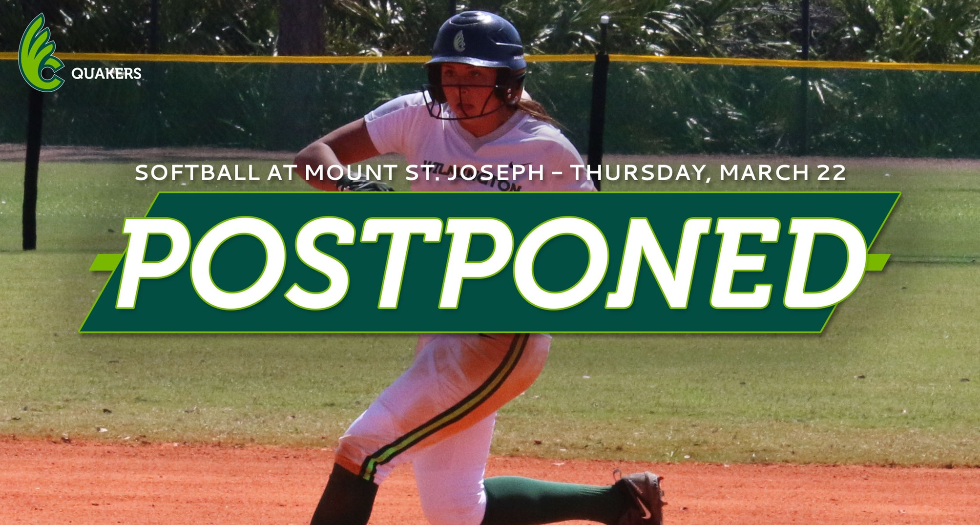Softball's Doubleheader at MSJ Postponed