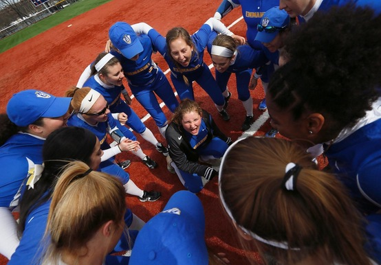 SOFTBALL SWEEPS REGIS; CLINCHES GNAC PLAYOFF BERTH